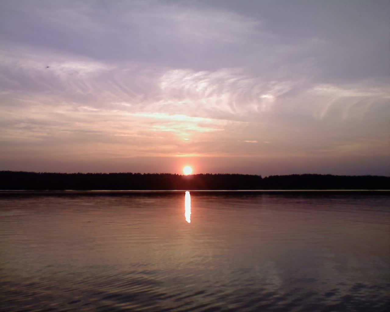 Солнце садится, Волга, лето